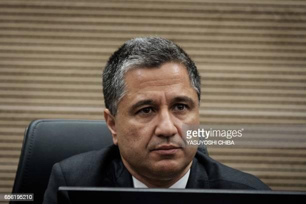 Rio de Janeiro's state 'Lava Jato' task force coordinator Leonardo Cardoso de Freitas attends a refund agreement ceremony at the Second Region...