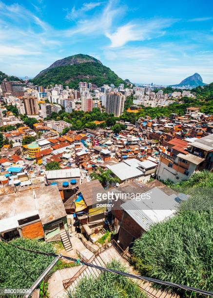 rio de janiero - favelas and nice districts - favela stock pictures, royalty-free photos & images
