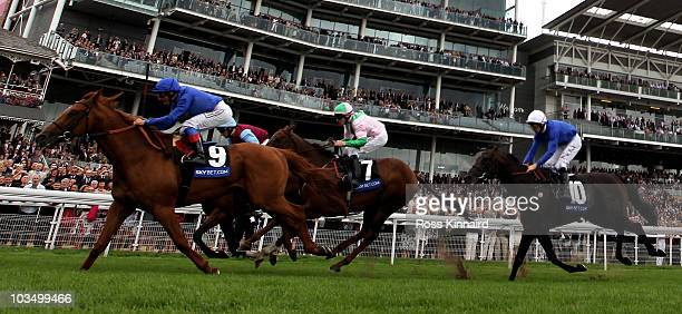 Rio de La Plata ridden by Frankie Dettori wins the Sky Bet Strensall Stakes during the Yorkshire Ebor Festival at York Race Track on August 20 2010...