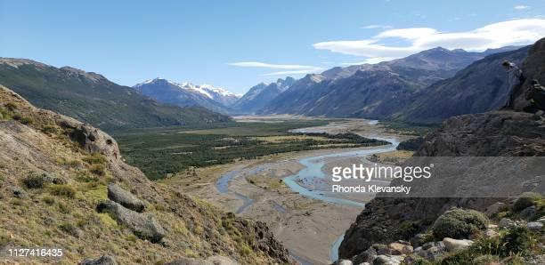 rio de las vueltas, los glaciares national park, argentina - rhonda klevansky stock pictures, royalty-free photos & images