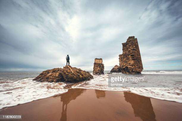 torre de rio de oro beach - atlantic ocean stock pictures, royalty-free photos & images