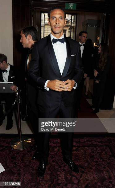 Rio Ferdinand arrives at the GQ Men of the Year awards at The Royal Opera House on September 3 2013 in London England