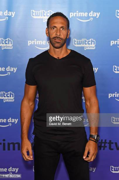 Rio Ferdinand at the Twitch Prime Crown Cup at the Gfinity Esports Arena July 13, 2019 in London, England. The event was streamed live at...