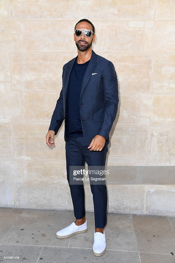 Rio Ferdinand attends the Louis Vuitton Menswear Spring/Summer 2017 show as part of Paris Fashion Week on June 23, 2016 in Paris, France.