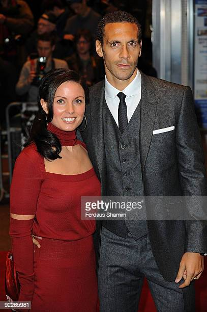 Rio Ferdinand attends the UK Premiere of 'Dead Man Running' at Odeon Leicester Square on October 22 2009 in London England