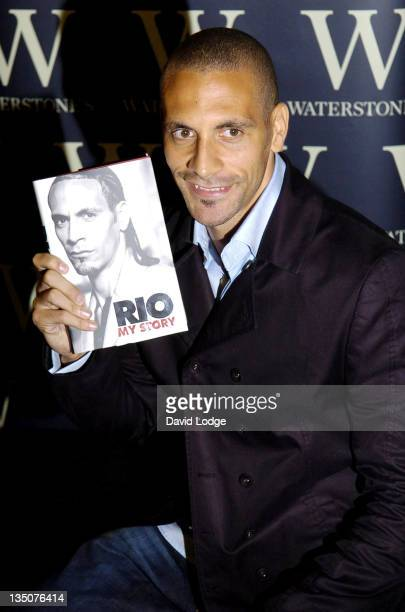 Rio Ferdinand during Rio Ferdinand Signs Copies of His Book My Story at Waterstones October 2 2006 at Waterstones in London Great Britain