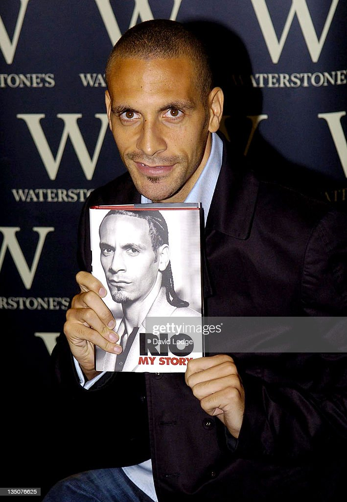 "Rio Ferdinand Signs Copies of His Book ""My Story"" at Waterstones - October 2,"