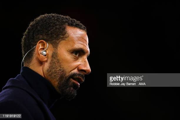 Rio Ferdinand during the FA Cup Third Round match between Wolverhampton Wanderers and Manchester United at Molineux on January 4, 2020 in...