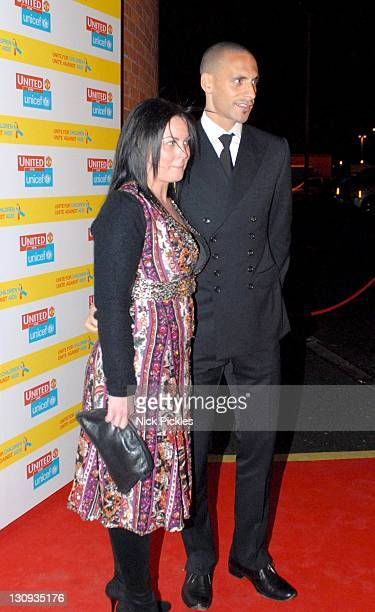Rio Ferdinand during United for UNICEF Gala Dinner Arrivals at Old Trafford Manchester United Football Club in Manchester Great Britain