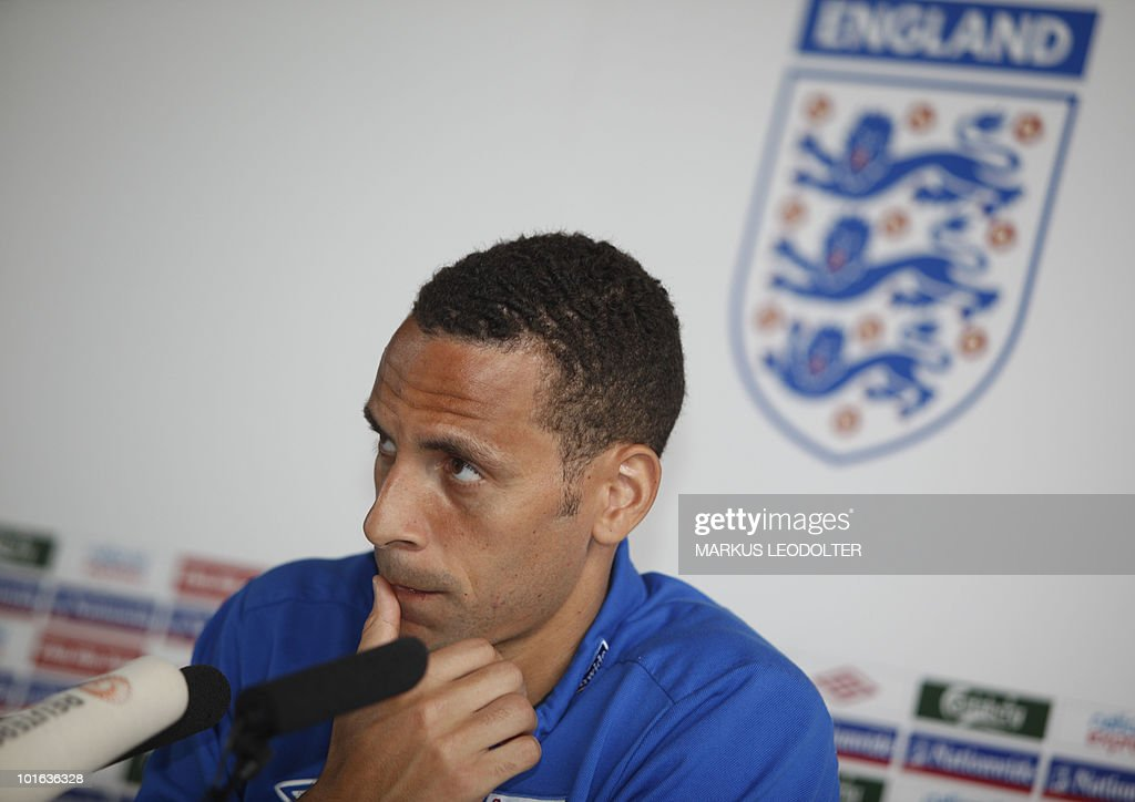 Rio Ferdinand, England´s national football team captain speaks during a press conference in Irdning, Austria on 29. May 2010. Some of England's biggest stars may feel on trial this weekend as Fabio Capello's team play their final World Cup warm-up match against Japan just 48 hours before the squad is cut to the final 23 who will go to South Africa.