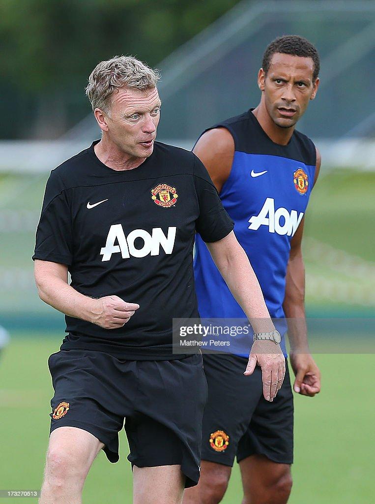 Manchester United Training and Press Conference - Bangkok : News Photo