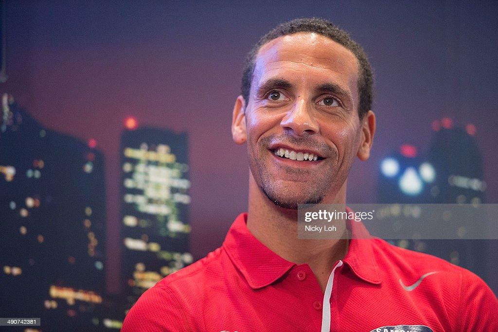 Rio Ferdinand & Sergio Aguero Visit Singapore