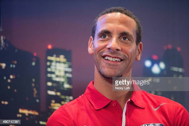 Rio Ferdinand of Manchester United attends a press conference on May 15 2014 in Singapore