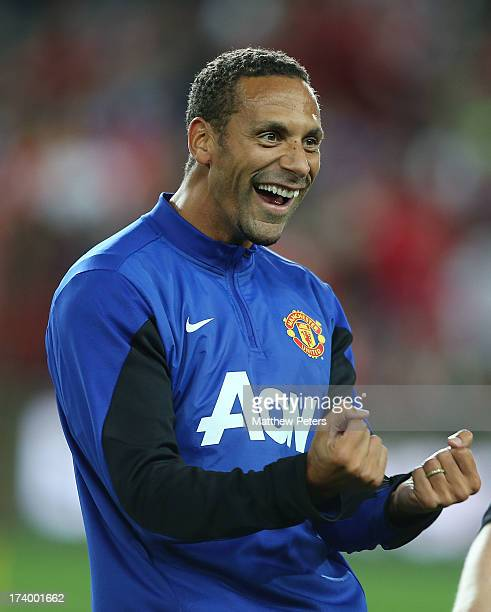 Rio Ferdinand of Manchester United in action during a first team training session as part of their preseason tour of Bangkok Australia China Japan...