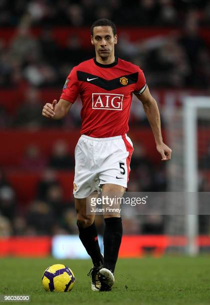 Rio Ferdinand of Manchester United in action during the Barclays Premier League match between Manchester United and Hull City at Old Trafford on...
