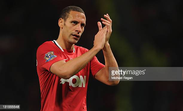Rio Ferdinand of Manchester United leaves the field after the Barclays Premier League match between Manchester United and Sunderland at Old Trafford...