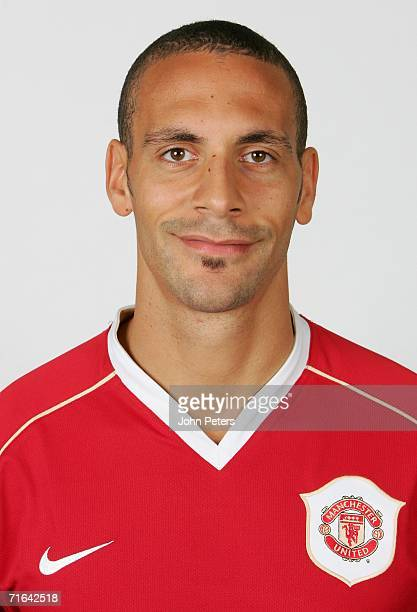 Rio Ferdinand of Manchester United poses during an official photocall at Carrington Training Ground on August 10 2006 in Manchester England