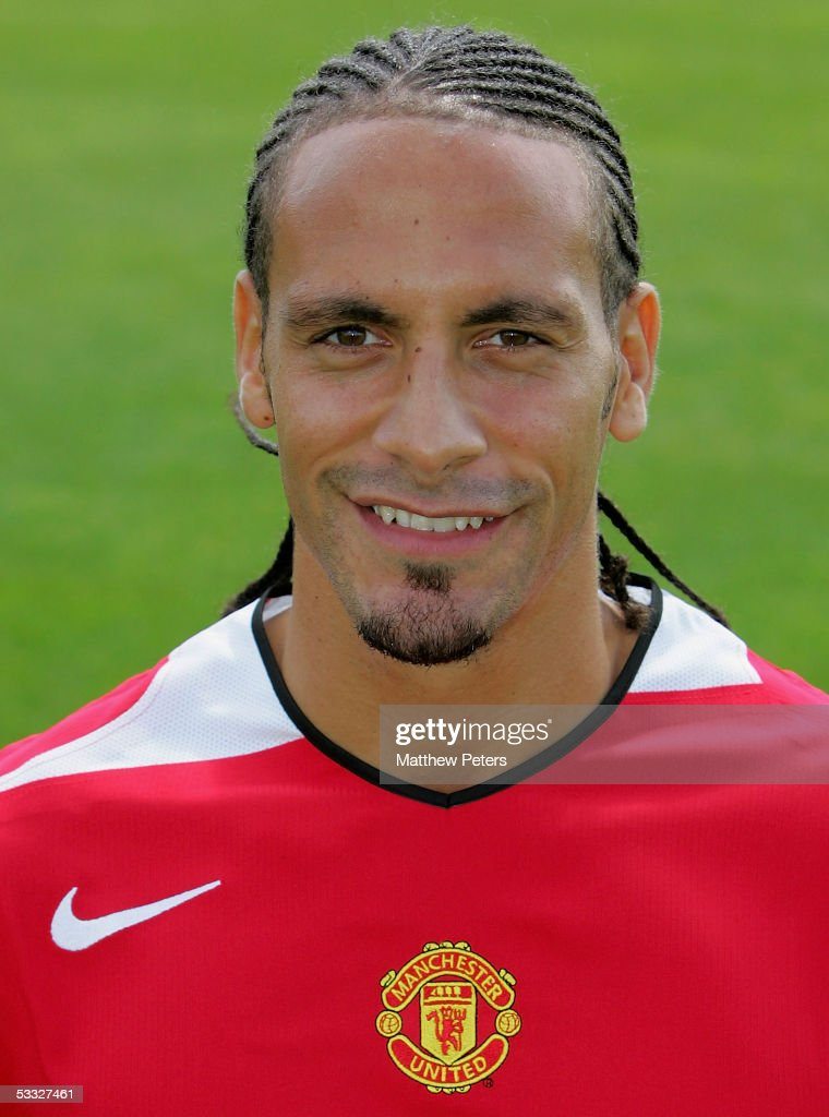 Rio Ferdinand of Manchester United poses during the annual club photocall at Carrington Training Ground on 5 August 2005 in Manchester, England.