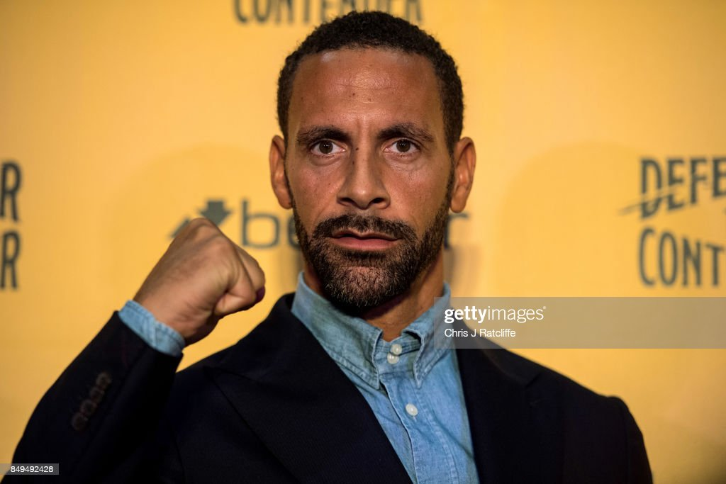 Rio Ferdinand poses for photos during a press conference at The Town Hall Hotel on September 19, 2017 in London, England. Retired England international footballer Rio Ferdinand announced at the press conference that he is training to become a professional boxer. Ferdinand will fight a succession of bouts in 2017 and 2018 with the ultimate aim to box for a title belt.