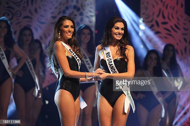 Rio Grande do Sul contestant Gabriela Markus winner of the Miss Brazil 2012 pageant on September 29 2012 in Fortaleza northeastern Brazil AFP...
