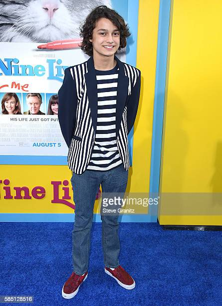 Rio Mangini arrives at the Premiere Of EuropaCorp's 'Nine Lives' at TCL Chinese Theatre on August 1 2016 in Hollywood California