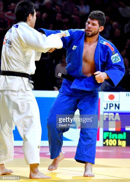 Rio Olympic bronze medallist Cyrille Maret of France lost the u100kg final to Kentaro Iida of Japan who scored a wazari early in the contest during...