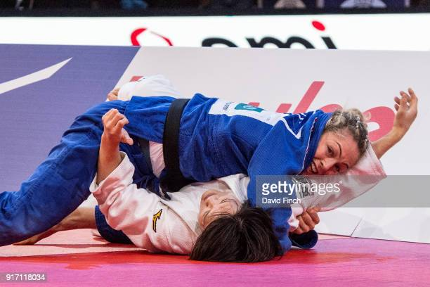 Rio Olympic bronze medallist Sally Conway of Great Britain came back from a wazari down to defeat the reigning World champion Chizuru Arai of Japan...