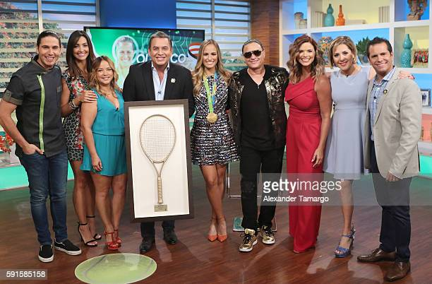Rio Olympics 2016 Women's Singles Tennis Gold medalist Monica Puig of Puerto Rico Chef James Erika Csiszer Adamari Lopez Daniel Sarcos Elvis Crespo...