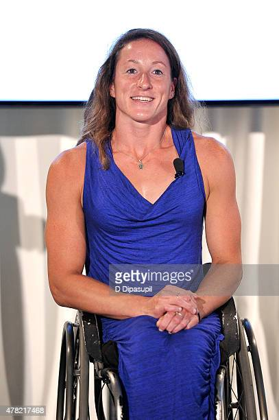 Rio Paralympic hopeful Tatyana McFadden attends the TeamUSA New View event at Midtown Loft Terrace on June 23 2015 in New York City