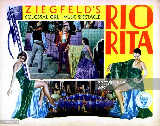 Rio Rita lobbycard from left inset Don Alvarado Georges Renavent Bebe Daniels 1929