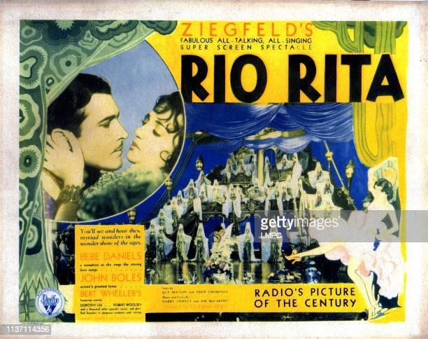 Rio Rita lobbycard from left John Boles Bebe Daniels 1929