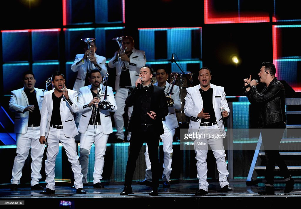 Rio Roma and La Original Banda El Limon de Salvador Lizarraga perform perform onstage during the 15th Annual Latin GRAMMY Awards at the MGM Grand Garden Arena on November 20, 2014 in Las Vegas, Nevada.