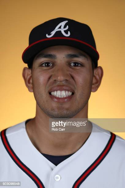 Rio Ruiz of the Atlanta Braves poses for a photo during photo days at Champion Stadium on February 22 2018 in Lake Buena Vista Florida