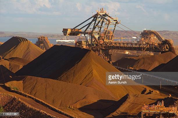 Rio Tinto Iron Ore Parker Point export loading facility is seen as part of the mining activities of British-Australian mining and resources company...