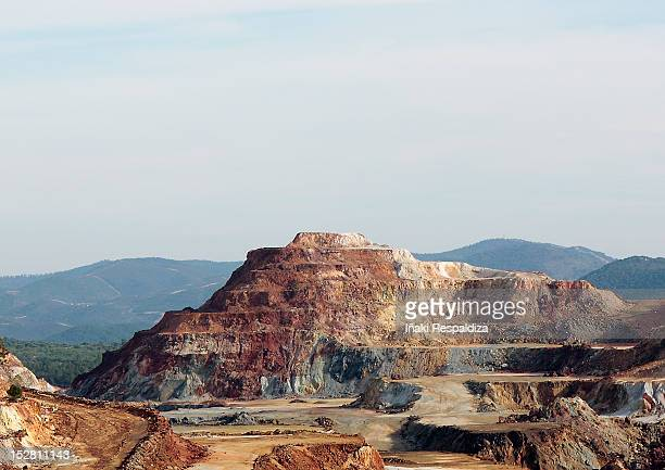 rio tinto quarry - iñaki respaldiza stock pictures, royalty-free photos & images