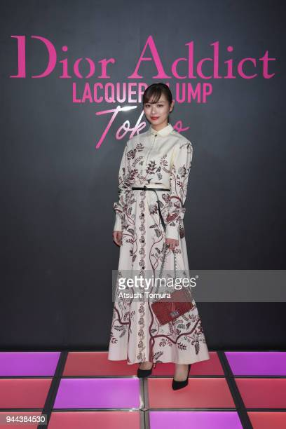 Rio Uchida attends the Dior Addict Lacquer Plump Party at 1 OAK on April 10 2018 in Tokyo Japan