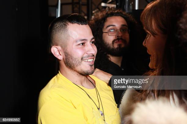 Rio Uribe backstage at the Gypsy Sport Fashion Show during 2017 New York Fashion Week The Shows at Skylight Clarkson Sq on February 12 2017 in New...