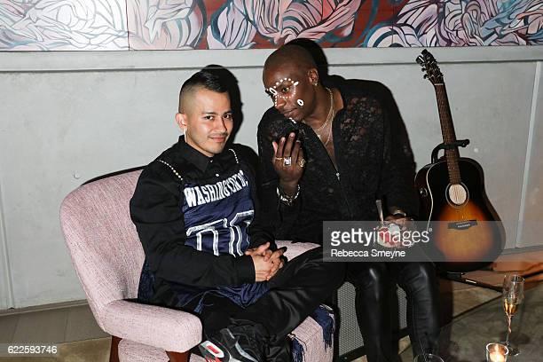 NEW YORK NY NOVEMBER 7 Rio Uribe of Gypsy Sport and Young Paris at the 13th Annual CFDA/Vogue Fashion Fund Awards at Spring Studios on November 7...