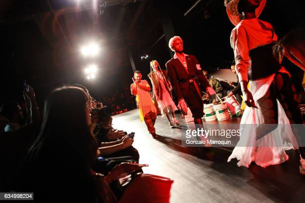 Rio Uribe walks the Runway at the Gypsy Sport Fashion Presentation during the February 2017 New York Fashion Week at Skylight Clarkson Sq on February...