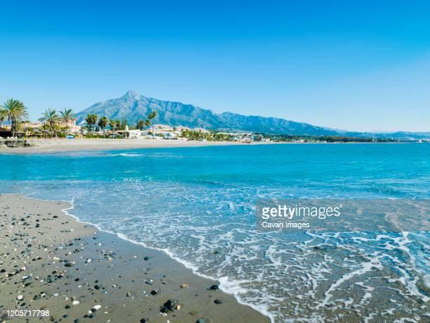 rio verde beach in marbella, malaga, spain - マルベーリャ ストックフォトと画像