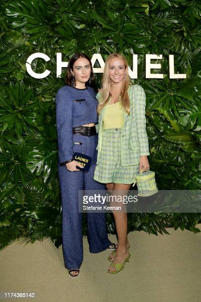 Rio VieraNewton and Harley VieraNewtonboth wearing CHANEL attends Chanel Dinner Celebrating Gabrielle Chanel Essence With Margot Robbie on September...