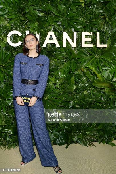 Rio VieraNewtonwearing CHANEL attends Chanel Dinner Celebrating Gabrielle Chanel Essence With Margot Robbie on September 12 2019 in Los Angeles...