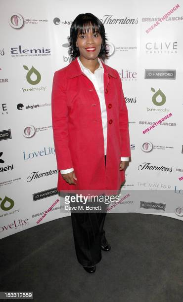 Rioch Edwards Brown arrives at The Inspiration Awards For Women 2012 at Cadogan Hall on October 3 2012 in London England