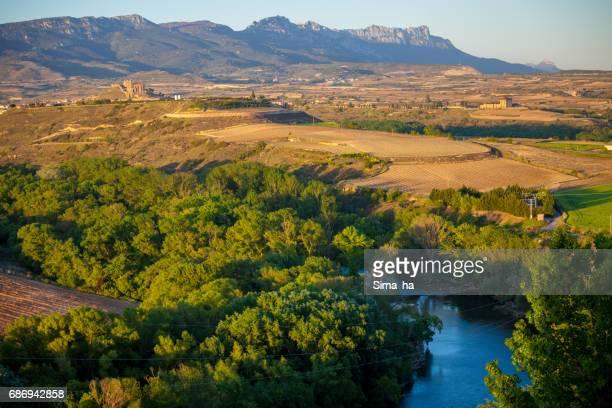 rioja alta - ebro river stock photos and pictures