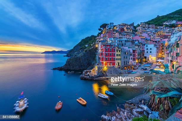 Riomaggiore in the Cinque Terre, Liguria, Italy