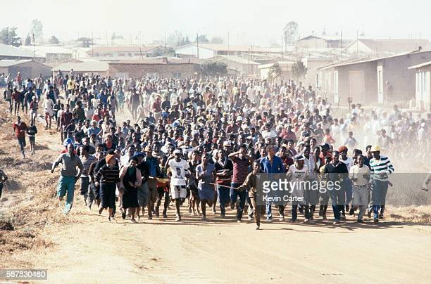 Riot in Duduza township during the funeral of four blacks killed during an attack on government employees A state of emergency was imposed in July...