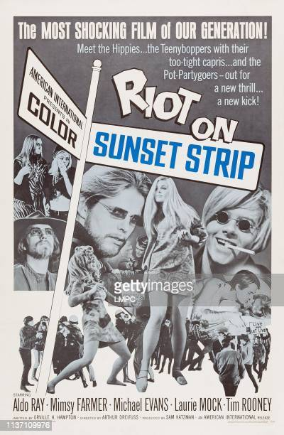 Riot On Sunset Strip poster US poster art Mimsy Farmer 1967