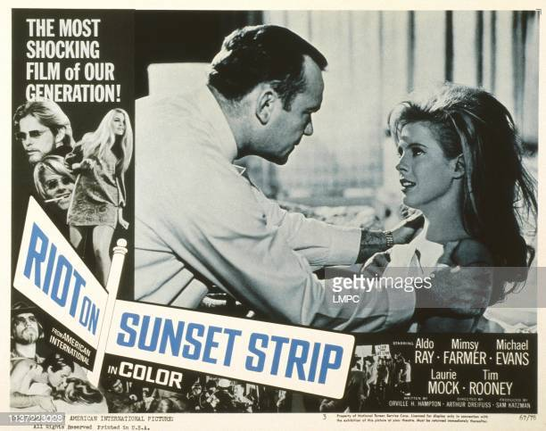 Riot On Sunset Strip poster US poster from left Aldo Ray Mimsy Farmer 1967