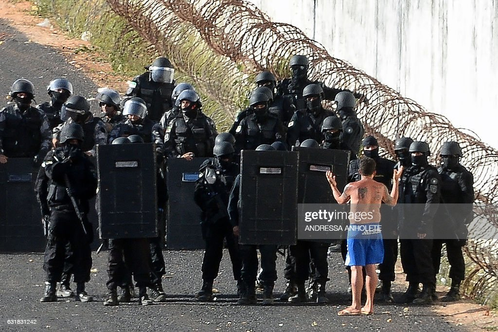 BRAZIL-PRISON-RIOT-ALCACUZ : News Photo