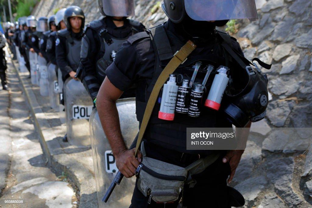 NICARAGUA-POLITICS-PROTEST : News Photo